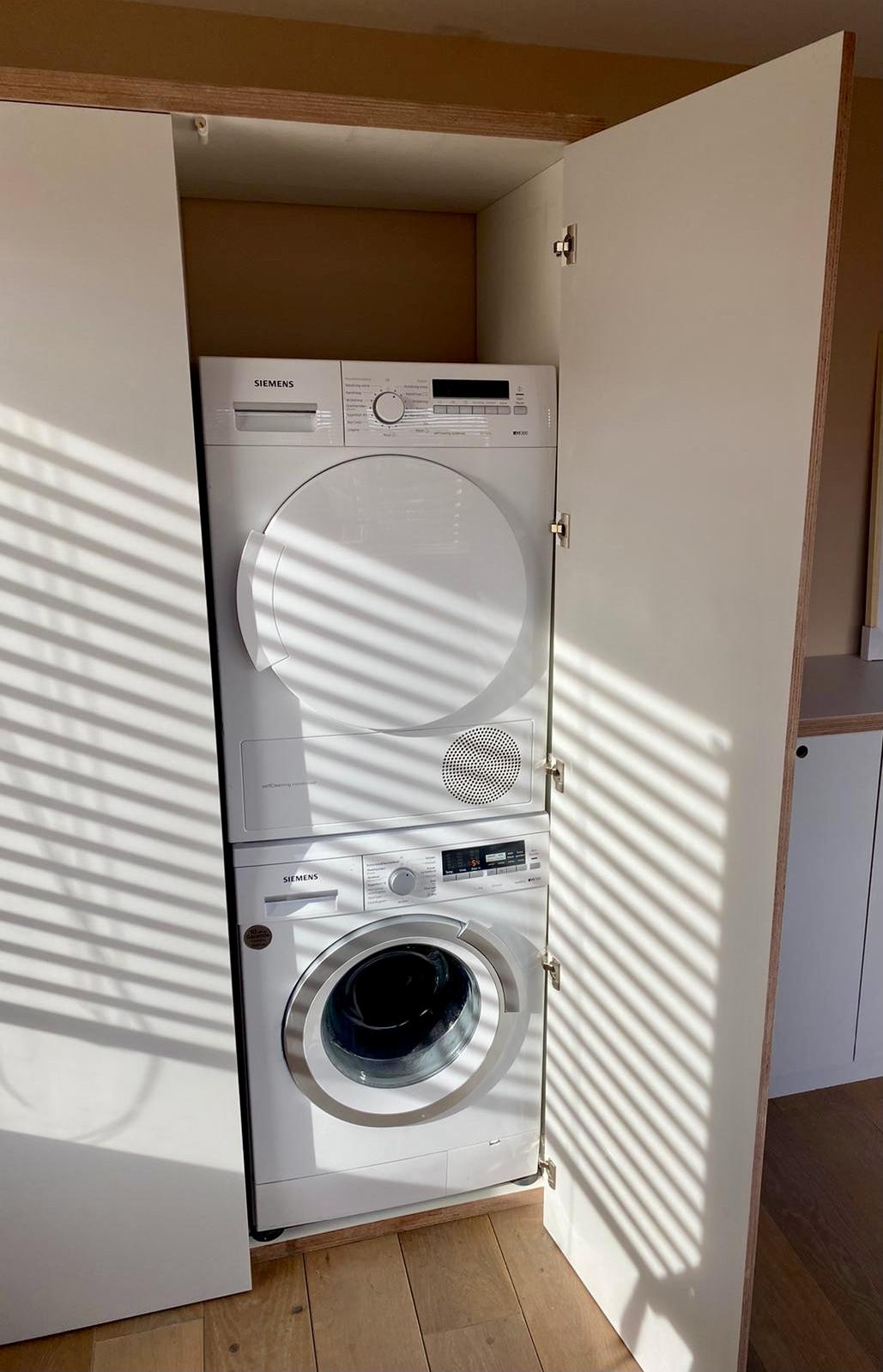 Hout op maat gemaakt wasmachine kast