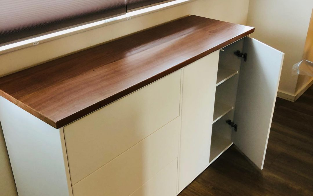 Op maat, keukenwerkblad, maobi hout